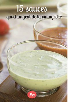 Vegetables dip dip: 15 sauces that change the vinaigrette - James Recipes Salad Sauce, Pesto Sauce, Salsa Francesa, Sauce Recipes, Crockpot Recipes, Chefs, Caprese Salat, Salsa Dulce, Cuisine Diverse
