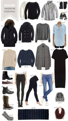 A great capsule wardrobe is always based on good quality essentials. Read about the essential items you should have in your winter capsule wardrobe Source by lularoejuliaknapp winter Capsule Wardrobe, Winter Wardrobe Essentials, Travel Wardrobe, Wardrobe Basics, Ikea Wardrobe, Winter Travel Outfit, Fall Winter Outfits, Autumn Winter Fashion, Winter Travel Packing