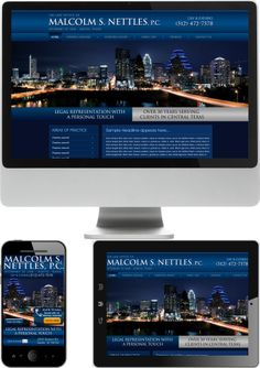 Attorney Malcolm S. Nettles Web Design - Check out our newest portfolio designs at http://firstpageattorney.com/web-design-portfolio/
