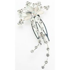 Clear Jeweled Hair Comb