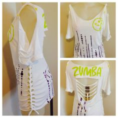Zumba Slash O Rama Customized Top in White Cute and Fun Style | eBay