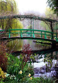 Monet\'s Magical Bridge Greeting Card