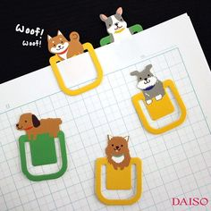 Cute Cat and Dog paper clips! Use as a book mark or to just hold paper together! Stack Of Books, I Love Books, Love Bookshelf, Daiso Japan, Cute Cats And Dogs, Paper Clip, Bookmarks, First Love, Dog Cat