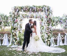 Romantic Oceanfront Garden Wedding