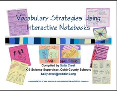 Vocabulary Strategies Using Interactive Notebooks