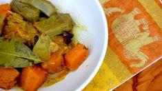 Curry de poulet, artichaut et courge pour #princedebretagne