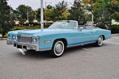 1975 Cadillac Eldorado convertible finished in Jennifer blue.
