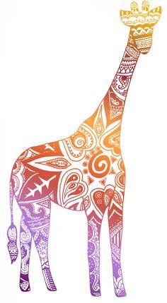 cool drawings of giraffes   Doodling Giraffes   Doodles & Tea