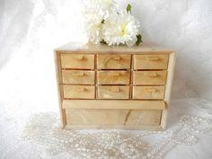 vintage bakelite jewelry box organizer box small parts by brixiana