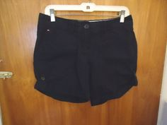 "13.09$  Watch here - http://viesr.justgood.pw/vig/item.php?t=c305m7d51675 - Womens Tommy Hilfiger Size 4 Black Shorts "" BEAUTIFUL PAIR """