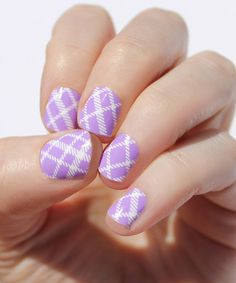 Loving this Lavender Plaid Nail Wraps - Set of Two on #zulily! #zulilyfinds