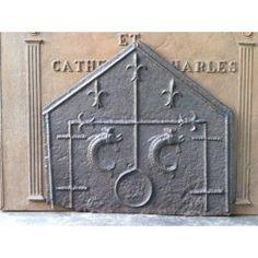 Plaque de cheminée Armes gothiques Pentalpha à vendre chez https://www.plaque-de-cheminee.fr