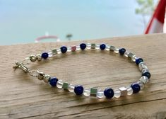 They Say Women are More Intuitive This Semi Precious Lapis | Etsy Handmade Bracelets, Handcrafted Jewelry, Beaded Bracelets, True Gift, Lava Bracelet, Sparkly Jewelry, Healing Bracelets, Adjustable Bracelet, Jewelry Making