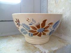 Cafe Au Lait Bowl French Vintage Autumn Colors Sarreguemines Faience. £17.99, via Etsy.