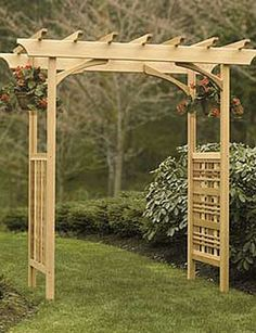 The pergola kits are the easiest and quickest way to build a garden pergola. There are lots of do it yourself pergola kits available to you so that anyone could easily put them together to construct a new structure at their backyard. Cedar Pergola, Deck With Pergola, Backyard Pergola, Backyard Landscaping, Pergola Roof, Landscaping Ideas, Desert Backyard, Modern Pergola, Backyard Ideas