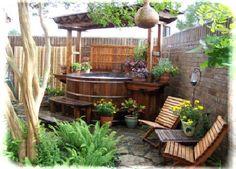 Image result for cedar hot tub step ideas