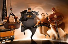 FAT HEROES (DC) by CarlosDattoliArt on @DeviantArt