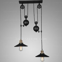 pendant lighting industrial style. 2light designer pulley shaped industrial pendant lights lighting style d