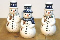 Cool guys, right? :D Snowmen by Polish pottery