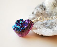 Druzy necklace..I have one similar to this