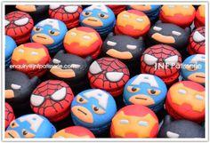 Superhero avengers Macaron  Spiderman, batman, Captain America, ironman
