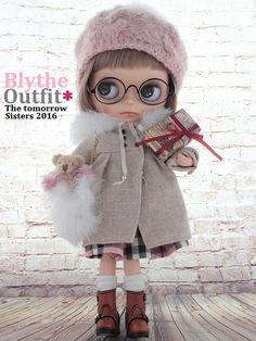 ◆Blythe Outfit◆本年最終ブライスXmasデートコーデ9点set NO74_本体・眼鏡は付属しません。