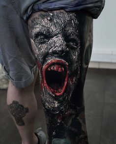 - only best tattoos - Sandry Riffard . 📣📢want a shoutout? Evil Tattoos, Creepy Tattoos, Badass Tattoos, Black Tattoos, Body Art Tattoos, Tattoos For Guys, Sleeve Tattoos, Mädchen Tattoo, Demon Tattoo