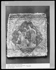 Alms bag, 13th Century, love scene, back, Schnütgen Museum, Cologne, Germany,
