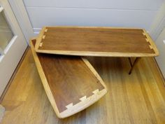 Vintage Authentic Lane Mid Century Dovetail Swivel Coffee Table by JoulesJewels, $300.00