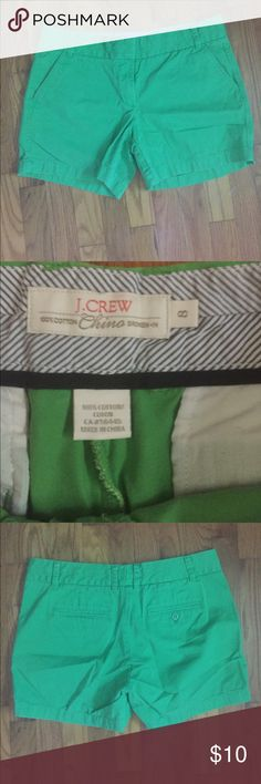 Spring green chino shorts EUC chinos from J. Crew.  Soft spring green color. Shorts measure about 12 inches from waist to hem. J. Crew Shorts