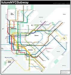 New York Subway Map Future.Paul Francosky Francosky On Pinterest