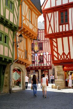 Vannes in Bretagne, Western France. I studied in Bretagne as a teenager and I just loved it! Places Around The World, Oh The Places You'll Go, Places To Travel, Places To Visit, Around The Worlds, Wonderful Places, Beautiful Places, Brittany France, Ville France