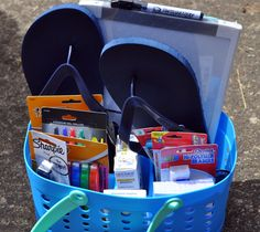 High school graduation gift alternative to cash - fill a shower caddy with college necessities like school supplies, white board, flip flops, soap, band-aids, etc.