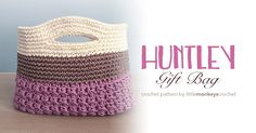 Perfect for an end-of-the-year teacher gift, crochet this cute gift bag with Lion Brand's 24/7 Cotton yarn.