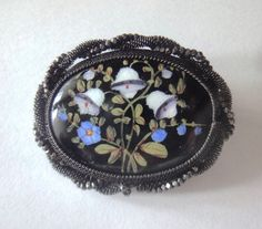 Enameled Silesian Wire Work Brooch late 18th/ first half 19th century.