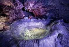 Water collection in the Mlynki cave. (Ternopil region of the Ukraine)