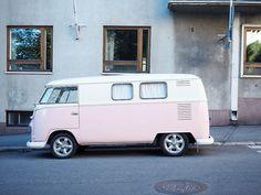 Car Painting, Helsinki, Matcha, Exotic Cars, Pale Pink, Recreational Vehicles, Street View, Van, Vans