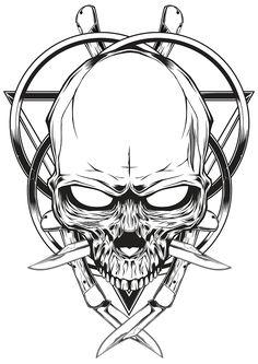 """""""Skull knife"""" illustration"""