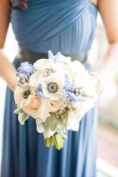 Ahhh springtime blooms - Anemones, Muscari, Dusty Miller - Flowers by Golden Gate Studios