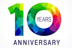 10 years old celebrating colored logo. anniversary year of 10 th vector template numbers. stained-glass digits of ages. mosaic pattern figures in various colors. 30th Anniversary Parties, 60 Wedding Anniversary, Anniversary Logo, Business Events, Happy Birthday Greetings, Logo Color, 10 Years, Logo Design, Graphic Design