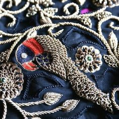 'Zardosi' featured in the curated magazine. #chains #embellishment #embroidery #detail #texture #textiles #technique #fashion #design