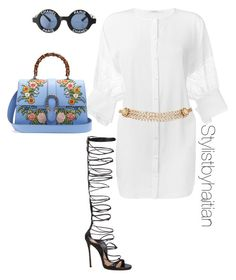"""""""Untitled #156"""" by stefanieshade on Polyvore featuring Givenchy, Dsquared2, Chanel, Maison Mayle and Gucci"""