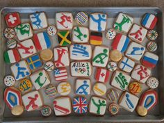 2014 winter olympic cookies for my niece's olympic themed birthday party.