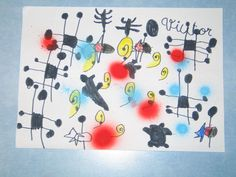 inspired by miro Joan Miro, Projects For Kids, Art Projects, Scribble Art, Ecole Art, Abstract Art, Abstract Paintings, Paul Klee, 3 Arts