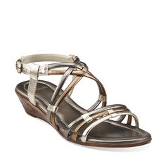 $69.99 Adona Belle in Metallic Multi Synthetic - Womens Sandals from Clarks