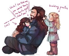 The main reason why Thorin cut his beard ^_^ <----most likely! >>Actually Richard got the idea that Thorin cut it out of respect for the dwarves whose beards were singed off when Smaug attacked Erebor.