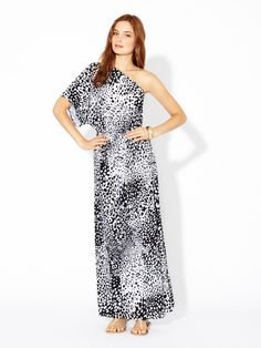 Jersey Knit One Shoulder Maxi by T-Bags on Gilt.com