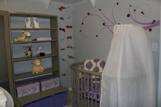 our lil' lady bean's purple and grey nursery