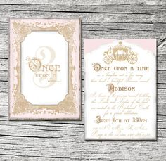Once Upon a Time Invitation Set of 25 by theblueeggevents on Etsy, $48.00