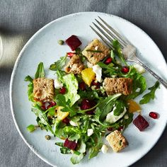 Winter Panzanella with Orange, Roasted Beets, and Pomegranate Seeds Recipe on Food52 recipe on Food52